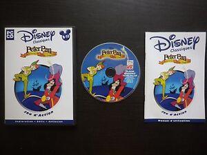JEU-PC-CD-ROM-Disney-PETER-PAN-Aventures-au-Pays-Imaginaire-complet-suivi