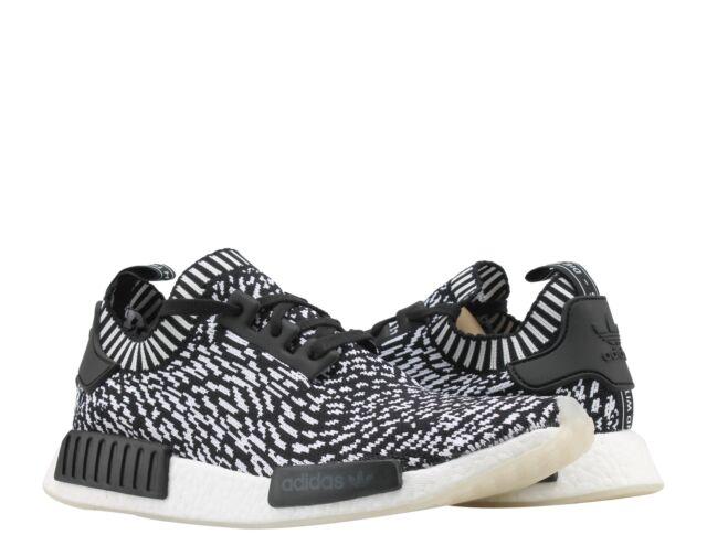 09d8911d65e5c Adidas NMD R1 PK Primeknit Sashiko Black White Men s Running Shoes BY3013