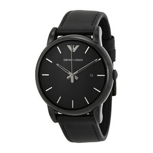 Emporio-Armani-Mens-AR1732-Classic-Black-Leather-Watch