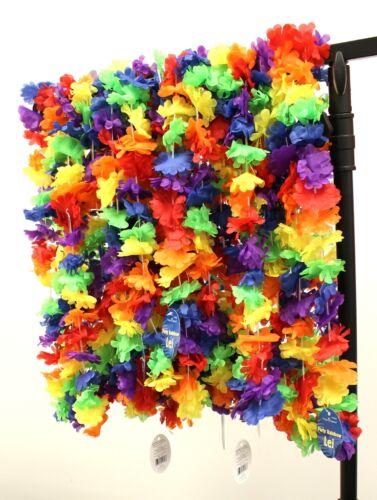 Rainbow Hawaiian Party Leis Pack of 25 Leis