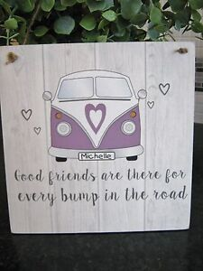 Vw Quote Fascinating Vw Camper Van Good Friends Quote Personalised Wall Plaque Rustic