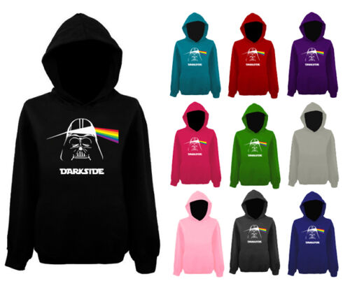 Da Donna Darkside Darth Vader PINK FLOYD Pullover Con Cappuccio Nuovo UK 12-20