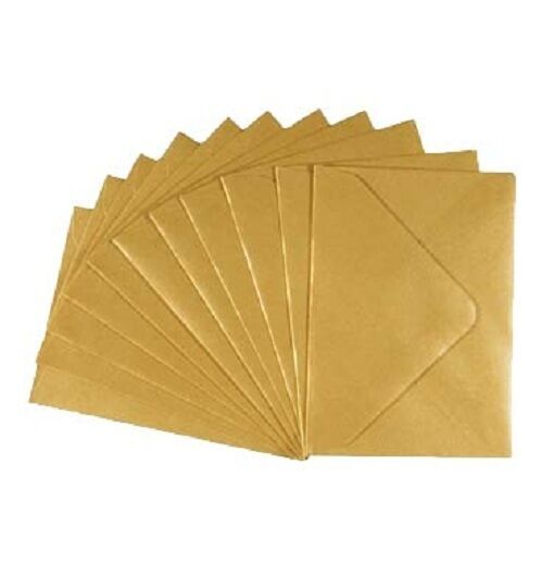 C7 Small, Mini Gold Metallic Pearl Envelopes 113mm x 83mm, RSVPs