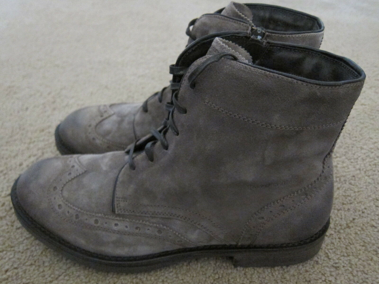 6bb3fc3e19a29 JOSEF SEIBEL Mens Italian Suede Boots shoes Size US 11 -11.5 NWB ...