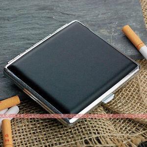 Black-Leather-Cigarette-Case-Box-Hold-For-18-Cigarettes-305Bb