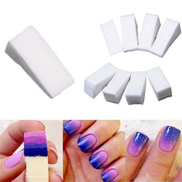 8pcs Nail Sponges for Acrylic Manicure GEL Nail Art Care DIY High ...