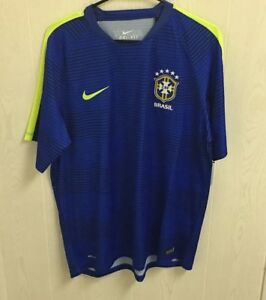 NWT Men s Nike Brazil Dri-Fit Flash Pre-Match Training Soccer Jersey ... e7afb77280bf4