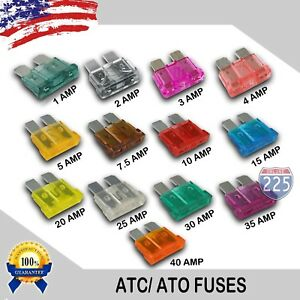 39 Pieces 1 - 40 AMP ATC Fuses 1A 2A 3A 4A 5A 7.5A 10A 15A 20A 25A 30A 35A 40A