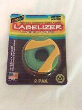 Rotex 38 Manual Embossed Label Maker Tape 2 Packages With2 Rolls Total Of 288