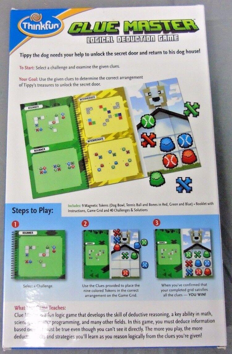 Thinkfun Clue Master Logical Deduction Game Age 8 Ebay