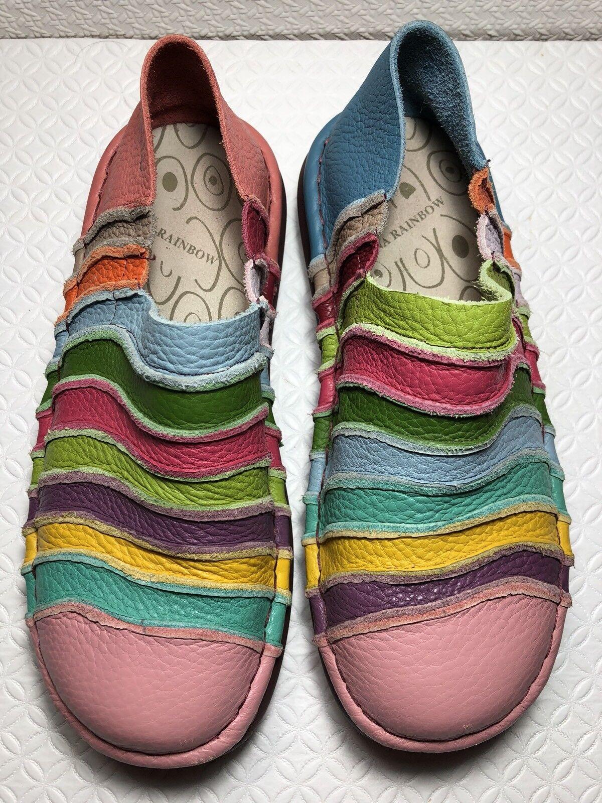 35598e62845 Nina Rainbow Women's Multi Leather Slip shoes Size-40 On color ...