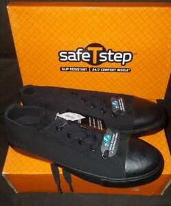 Details About Nib Safe T Step Size 13 Women S Black Slip Resistant Shoes Restaurant Converse