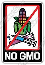 "No GMO Genetically Modified Organism Gift Car Bumper Vinyl Sticker Decal 3.6""X5"""