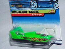 Hot Wheels 1998 Biohazard Series #717 Hydroplane Flor Green w/ Tinted Windows