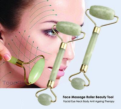 Health & Beauty Honest Facial Jade Stone Roller Beauty Massage Tool Face Body Neck Natural Massager Uk Massage