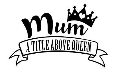 Floral mamá-el Dia De La Madre-Cut Vinyl Decal//Sticker-Diseño 4