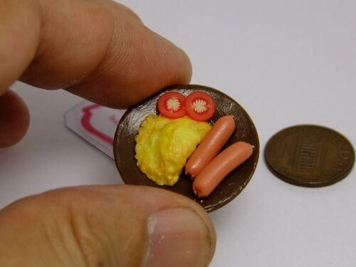 Em miniatura Yummy alimentos pode fazer amuletos Kawaii acessórios Omelete e salsichas