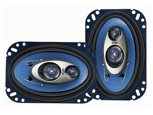 "NEW PYLE PL463BL Blue Label Series 4x6"" 240 Watts 3-Way Car Audio Speakers Pair"