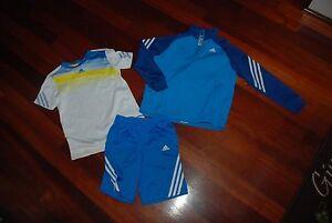 Adidas-3-piece-Dri-Fit-Shorts-Shirt-amp-1-2-Zip-Sweatshirt-Size-Boys-Small