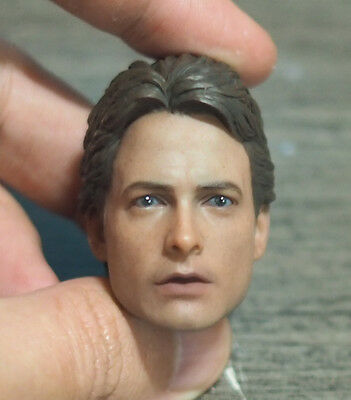 Custom 1/6 Scale Back to Future Marty Mcfly Head Sculpt For Hot Toys Body