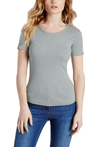 NEW  MARL GREY MARKS AND SPENCER ROUND NECK T-SHIRT SIZES 12 TO 22 PLUS SIZE