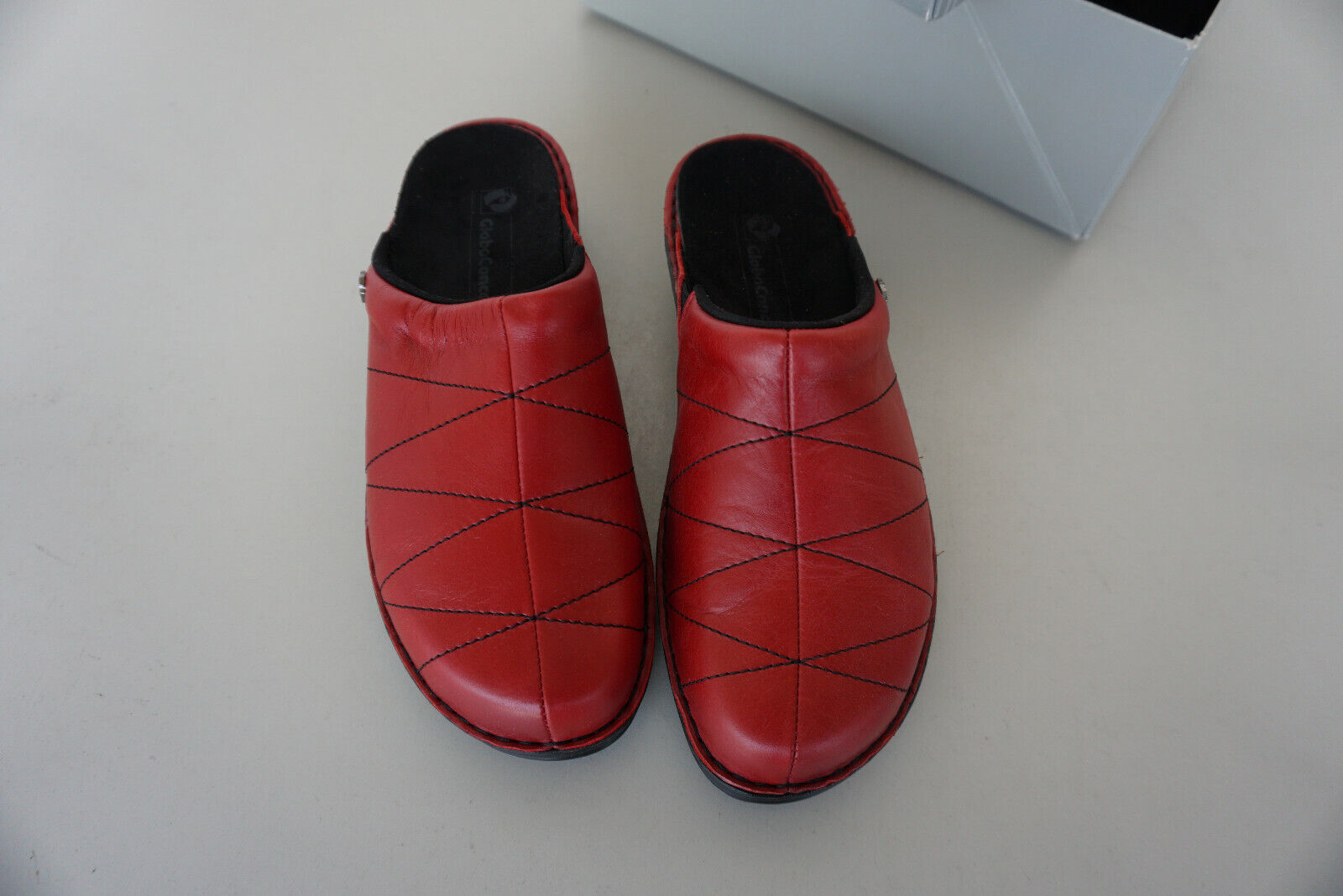 Orthopaedic Globo Concept Women's shoes Sandals Clogs Gr.38 Red Leather New