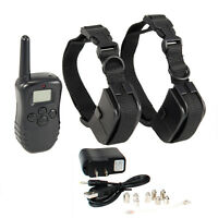 100LV 300M Level Electric Shock Vibration Remote 1 Or 2 Pet Dog Training Collar