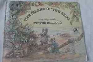 VINTAGE-034-THE-ISLAND-OF-THE-SKOG-034-STEVEN-KELOGG-034-FIRST-PIED-PIPER-PRINTING-034