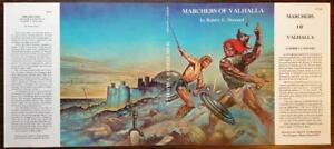 Marchers-of-Valhalla-by-Robert-E-Howard-Dust-Jacket-Only-Donald-Grant-Boas