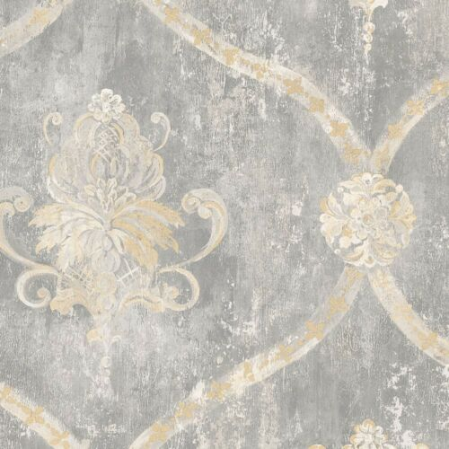 Norwall Traditional Weathered Designer Cottage Chic Modern Damask Wallpaper Diy