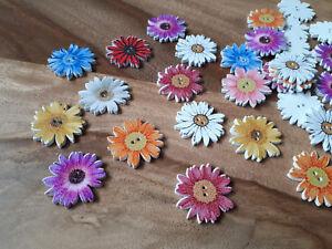 Details Zu Knopf Knöpfe Blume Chrysanthemen Sommer Blumen Holz Basteln Nähen Holzknöpfe
