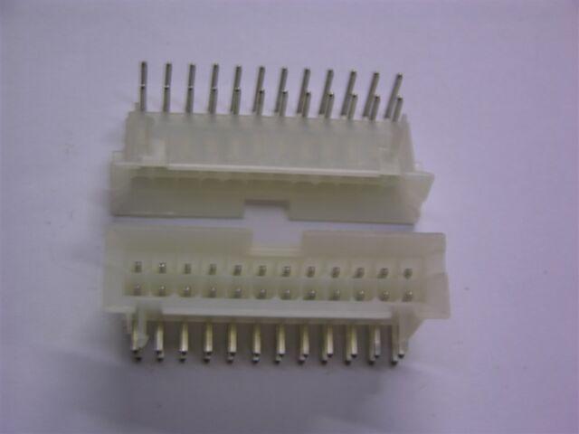 25 Molex Right Angle Header 24 Pin Connectors
