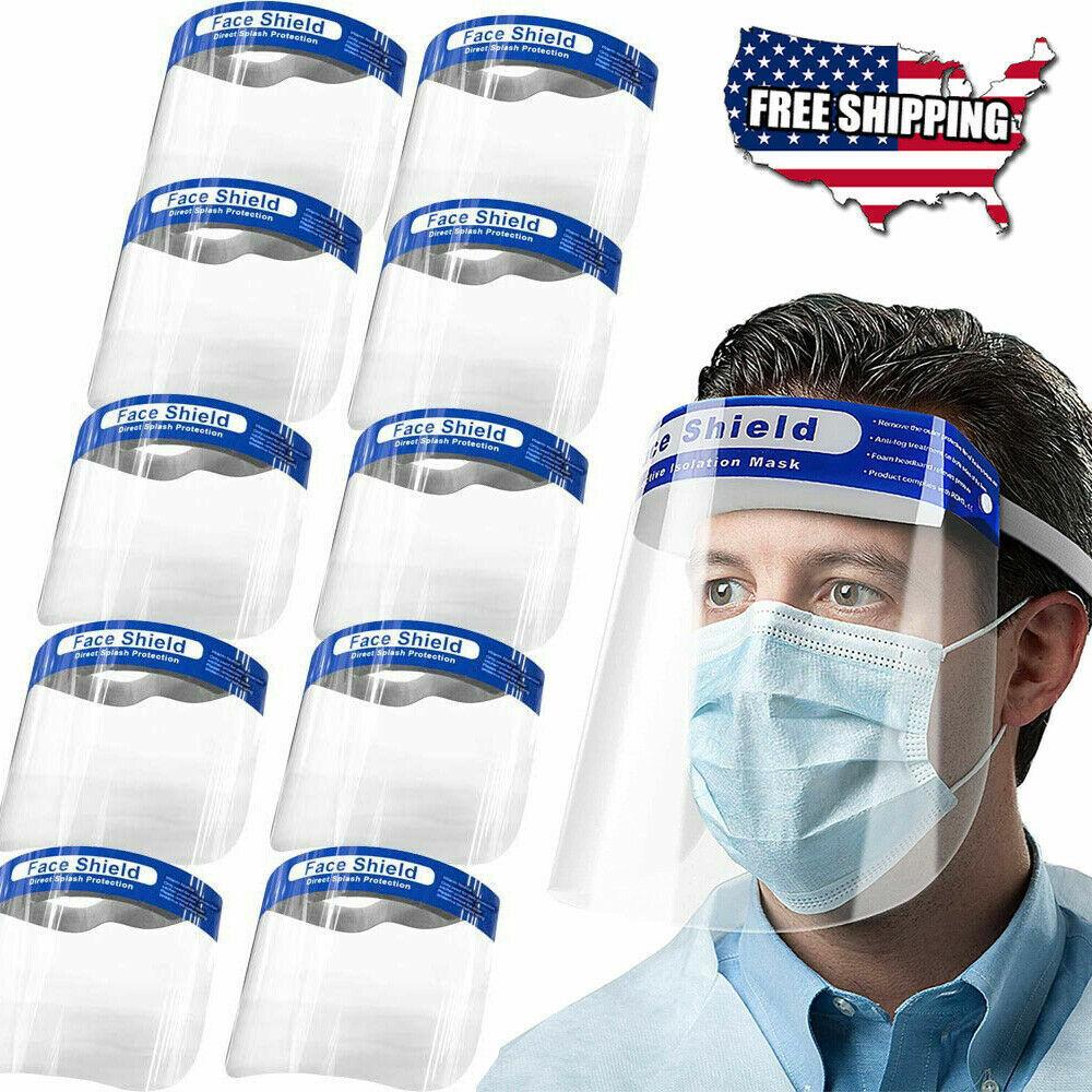 Protective Full Face Safety Isolation Visor Eye Face Protector Shield USA Ship