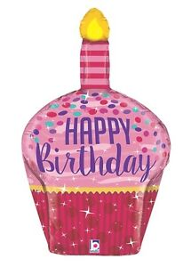 1st-BIRTHDAY-BALLOON-33-034-3-D-BIRTHDAY-CUP-CAKE-PARTY-SUPPIES-BETALLIC-BALLOON