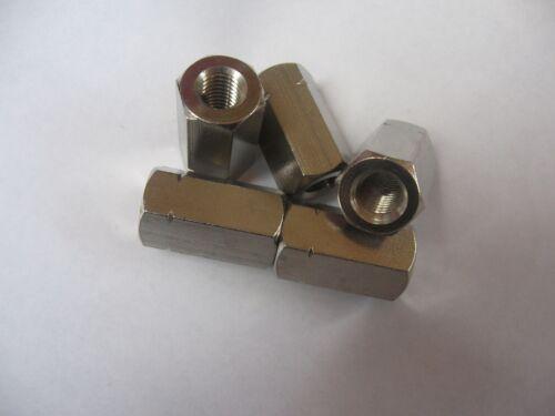 M6 A2 Acier Inoxydable Hex rivets thread coupleur menuisier connecteur écrou-Pack de 5