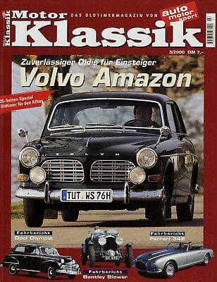 DemüTigen Motor Klassik 3/00 2000 Skoda Popular Ferrari 342 America Volvo Amazon 123gt Mgb Automobilia Zeitschriften