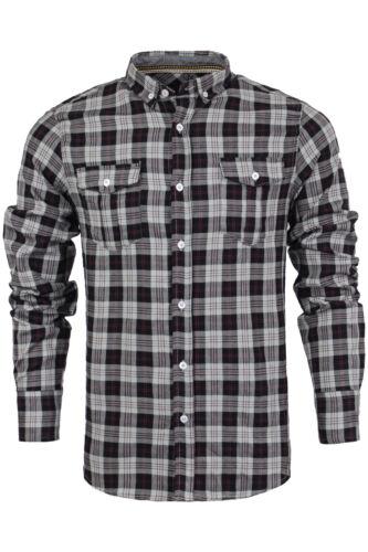 Camicia a Maniche Lunghe da Uomo Brave Soul /'Cono/' Pennello Cotone Flanella Lumberjack Controllo