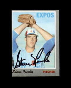 Steve Renko Hand Signed 1970 Topps Montreal Expos Autograph