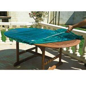 Détails sur Housse de protection pour plateau dessus de table ronde  exterieur diam 120 cm