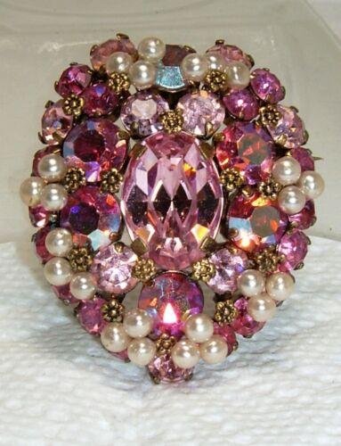 Austrian Crystal Aurora Borealis Rhinestone Faux … - image 1