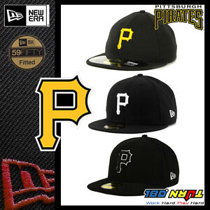 4b55a63656 ... more photos 1d5c6 0b732 Image is loading New-Era-59FIFTY-Fitted-Cap   store 706e9 08dbb Pittsburgh Pirates New Era MLB Black and White ...