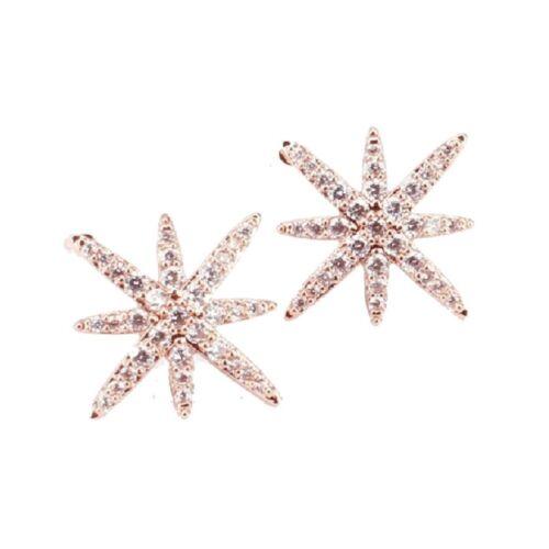 Pendiente aretes pendientes estrella circonita pedrería varios colores