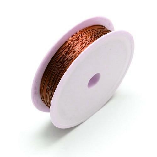 0.6mm Alambre De Cobre Artesanal Marrón 6m Carrete Accesorio bricolaje artesanías de fabricación de joyas