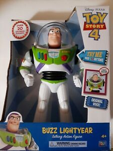 """Buzz Lightyear Disney Pixar Talking Action Figure Toy Story 4 New in Package 12"""""""