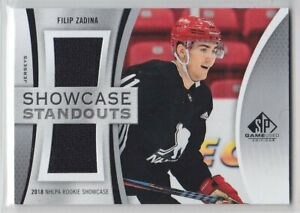 2019-20-UD-SP-GAME-USED-FILIP-ZADINA-RC-JERSEY-SHOWCASE-STANDOUTS-ROOKIE-Wings