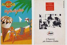 "# Pubblicitaria- cartoncino GELATO ""ALGIDA""  al verso CAFFE' ""SEGAFREDO"""