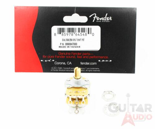099-0847-000 Genuine Fender Dual 500//250K Split Shaft Potentiometer//Pot