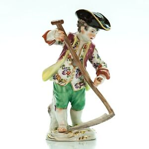 Meissen-Porcelain-Figurine-Farmer-Boy-Germany-Antique-Vintage-5-034-Tall-1475