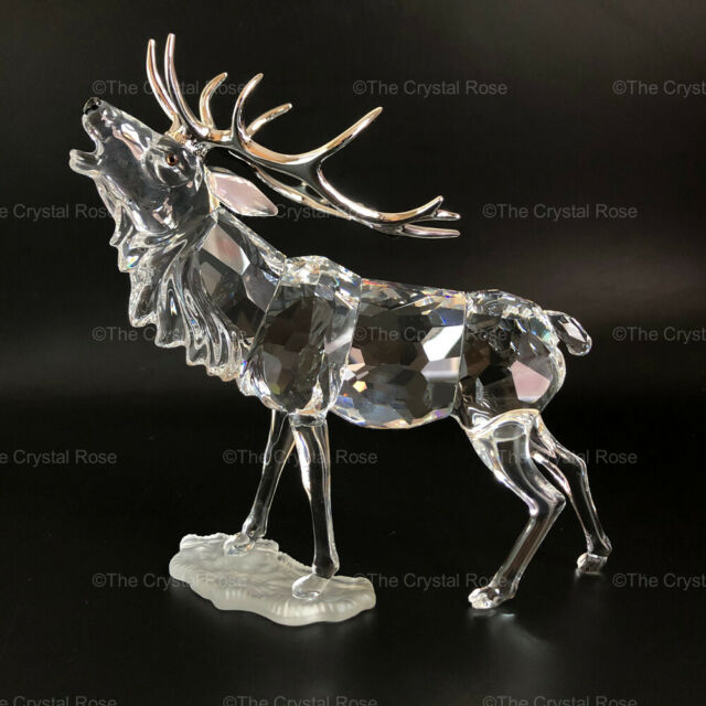 RARE Retired Swarovski Crystal Stag Deer 291431 Mint Boxed Rare Encounters