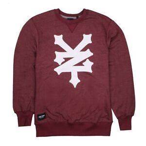 Zoo-York-Corning-Mens-Crew-Sweatshirt-Wine-Heat-L-XXL